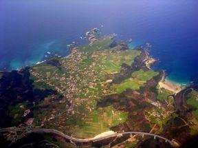 Vista aérea de Oviñana